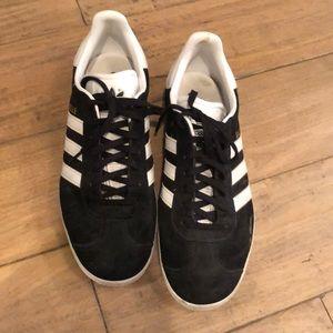 Adidas Gazelle Sneakers Black & White Size 8